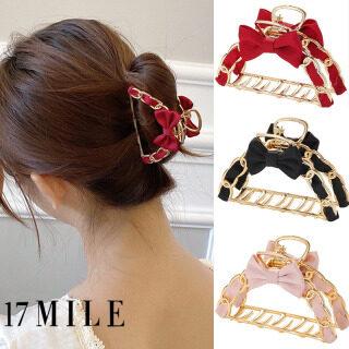 Vải Màu Đỏ Móng Vuốt Tóc Nơ Dễ Thương Cho Nữ 17 Dặm Kẹp Tóc Kim Loại Thắt Nơ Phụ Kiện Tóc Kẹp Tóc Hàn Quốc thumbnail