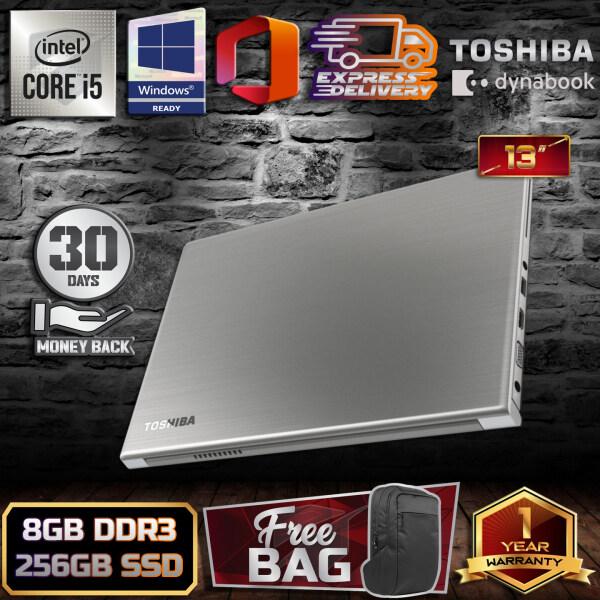 TOSHIBA DYNABOOK R634 SLIM DESIGN 1.25KG - INTEL CORE I5 4TH GENERATION / 8GB DDR3 RAM / 256GB SSD STORAGE / HDMI / 13.3 INCH / WINDOW 10 PRO GENUINE / LAPTOP / 1 YEAR WARRANTY - 30 DAYS MONEY BACK GUARANTEE Malaysia