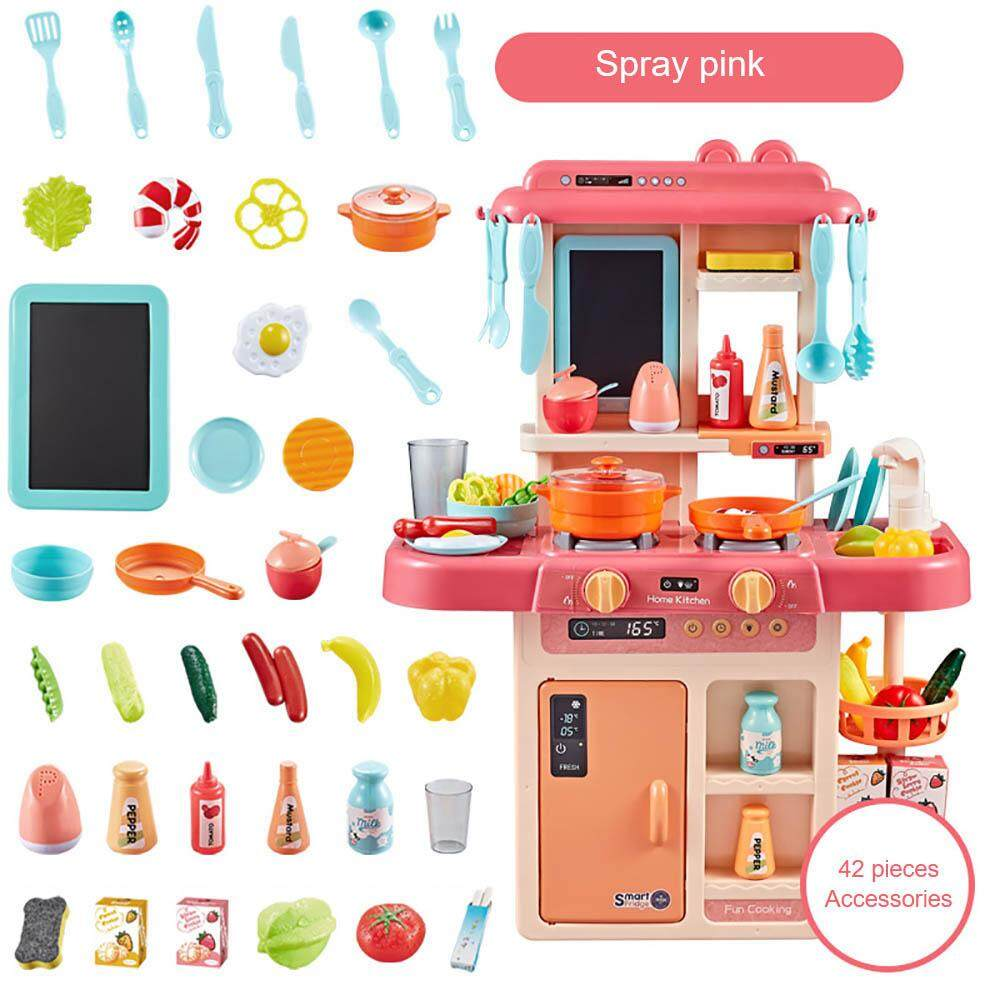 3 Types Kids Kitchen Appliance Toy Set Kitchen Stove Cooking Toy Set For  Children Boy Girl Sound And Light Music Steam Simulation Kitchen Toy Set