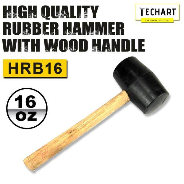 High Quality Rubber Hammer with Wood Handle 16oz