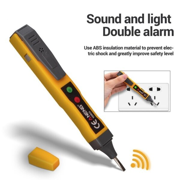 1 Pcs of Portable Multi-function Electric Pen Non-contact Induction Test Pen Electrician Electroscope AC and DC Voltmeter Breakpoint Detection Electric Rod Tool