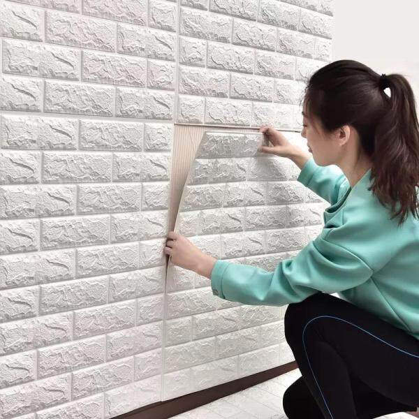 5pcs/set 70x77cm PE Foam 3D Brick Waterproof Wall Stickers Wallpaper Home Decor