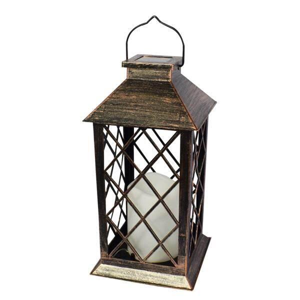 Samber Ngoài Trời Năng Lượng Mặt Trời Đèn Lồng, Đèn Điện Tử Cổ Điển Cho Sân Vườn