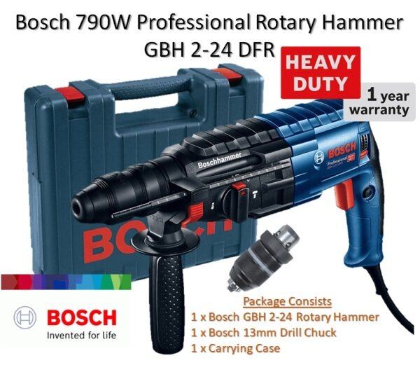 Bosch GBH 2-24 DFR 790W Professional SDS-Plus Rotary Hammer With 13mm Keyless Chuck