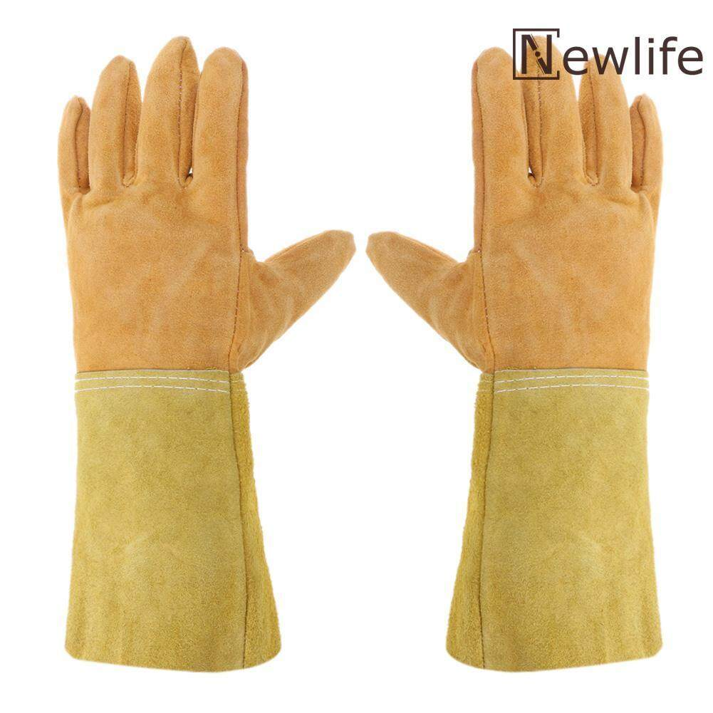 Work Gloves Leather Welding Gloves Safety Protective Wear-resisting Gloves