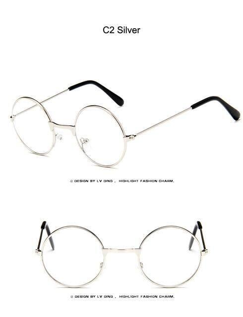 e321fbf049c1 [EL Malus]Retro Small Cute Round Metal Frame Sunglasses Gold Children Kids  UV400 Lens