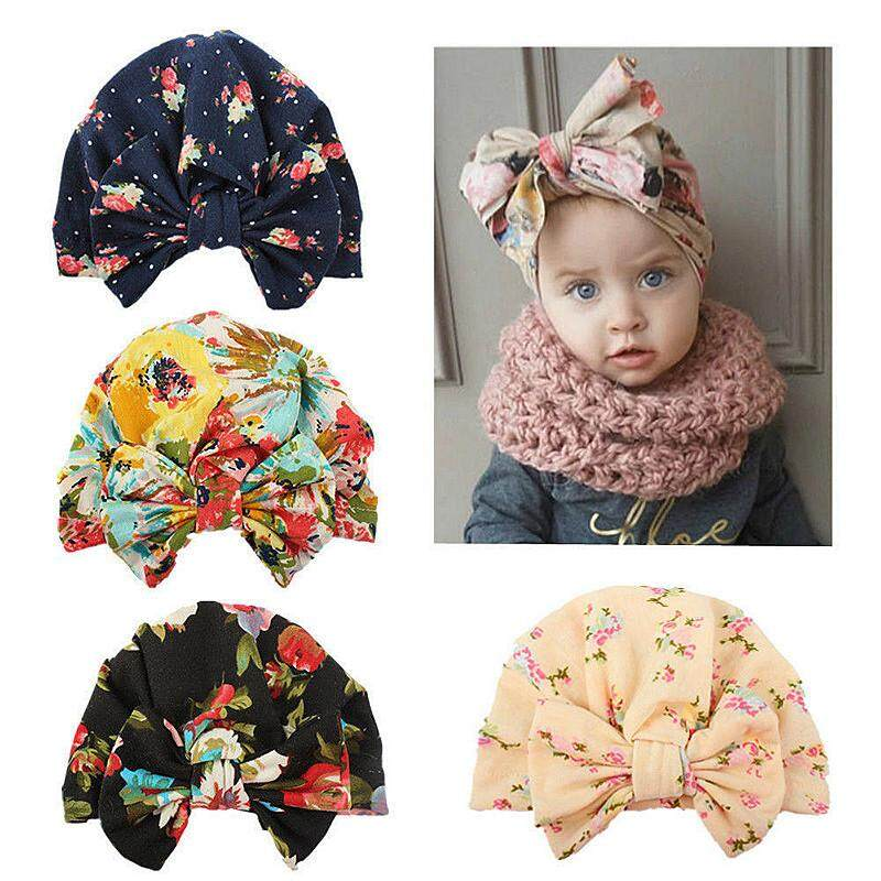 841466ad7be Newborn Toddler Baby Boy Girl Kids Turban Cotton Beanie Hat Winter Warm  Cute Cap