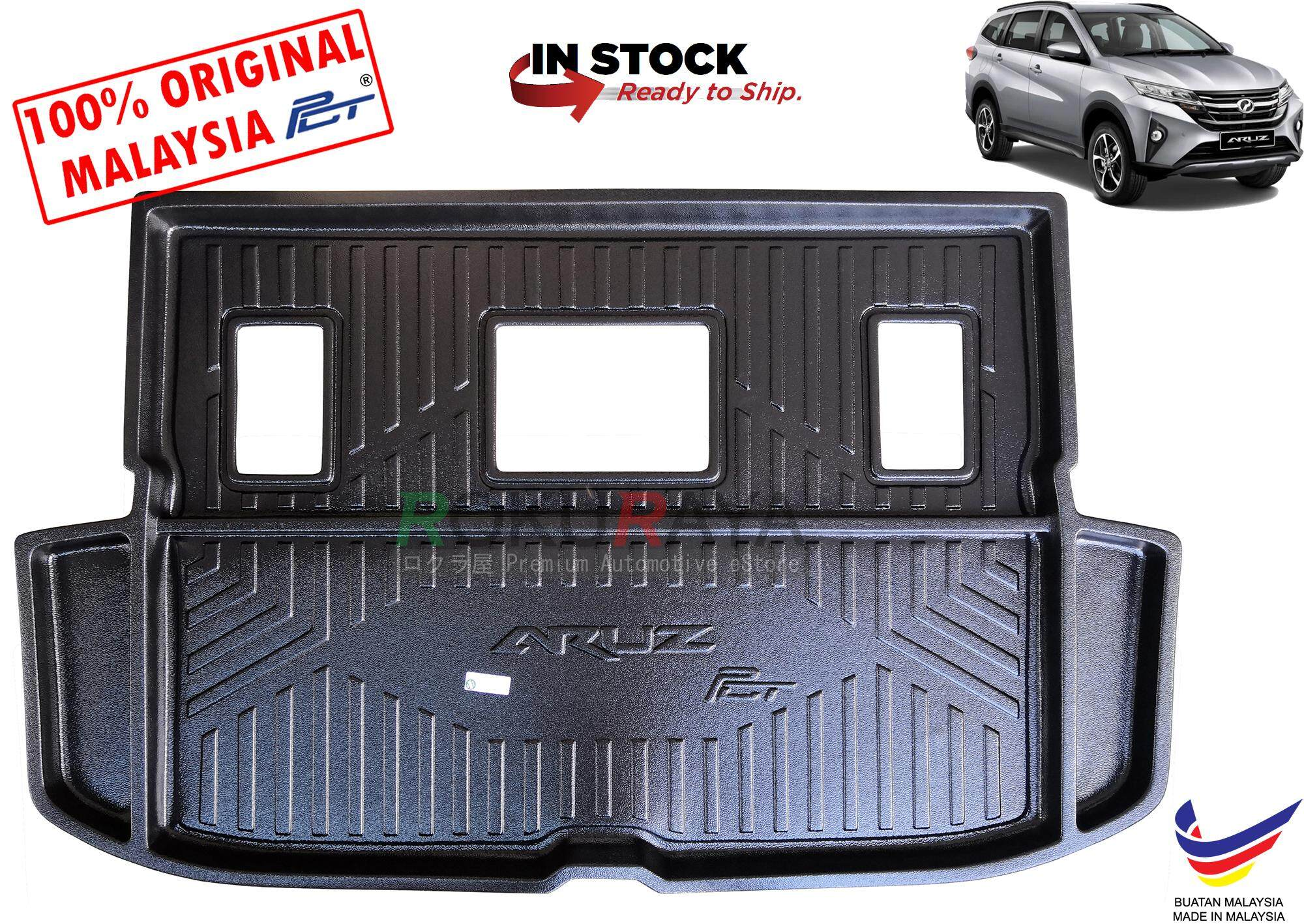 Perodua Aruz 2019 Custom Fit Original Oem Pe Non Slip Rear Trunk Boot Cargo Tray By Automart Rr.