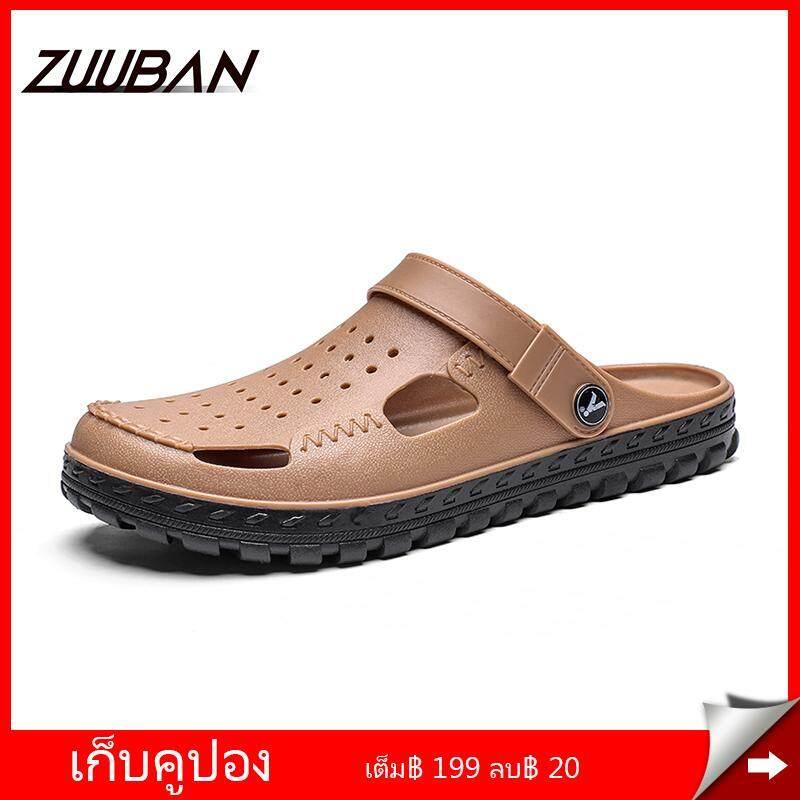 Zuuban Classic Slip On Clog รองเท้าผู้ชายฤดูร้อนรองเท้าแตะแบน Breathable ตาข่ายรองเท้าแตะกลางแจ้งแพลตฟอร์มชุดทำงานวุ้นลิ่มรองเท้าผู้ชายรองเท้า By Zuuban Flagship Store.