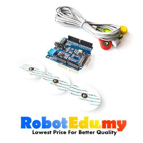 ECG EKG EMG Shield for Arduino With Cables And Electrodes Malaysia