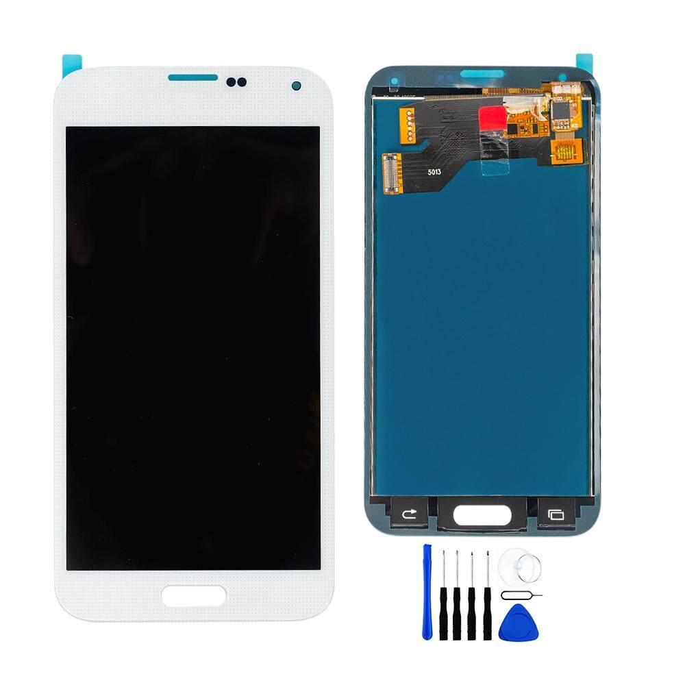 Asli Super AMOLED Layar LCD + Sentuh Layar Digitalisasi untuk Samsung Galaxy S5 G900F G900I G900M G900A G900T G900H G900K G900L G900S I9600