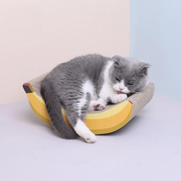 Fengyide 31.5Cm New Pet Sóng Giấy Cat Ban Đầu Meow Xianer Chuối Sóng Giấy Mèo Mài Claw Board Thực Hành Claw Cát Đồ Chơi Bền