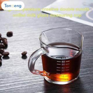 Tanmeng Chịu Nhiệt Đôi Vòi Rót Cà Phê Thủy Tinh Ly Đo Lường Cho Gia Đình Và Nhà Bếp thumbnail