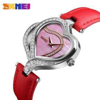 SKMEI ผู้หญิงนาฬิกาแบรนด์ชั้นนำ Luxury นาฬิกาควอทซ์หนังแฟชั่น Casual ผู้หญิงกันน้ำนาฬิกากีฬา-