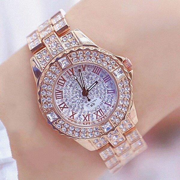 Women Watches Diamond Gold Watch Ladies Wrist Watches Luxury Brand Rhinestone Womens Bracelet Watches Female Relogio Feminino Malaysia