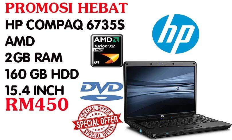 STUDENTS OFFER HP COMPAQ 67355 AMD 2 GB RAM 160 GB HDD 15.4 INCH Malaysia