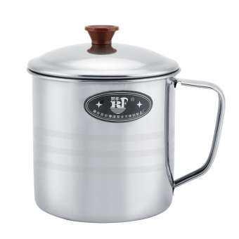 Sweetbaby สแตนเลสถ้วยชาถ้วยมีฝาปิดแก้วน้ำที่มีหูจับ Home Office