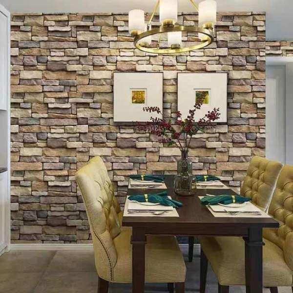 (Ready Stock) HYLL 2D Wallpaper Wall Stickers Self Adhesive Waterproof 45cm*1000cm Kertas Dinding Murah Promosi Corak Brick/ Bata