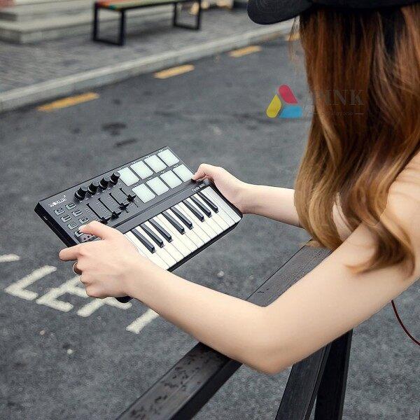 ♩♪♫pinkDO♪☞♬♪Worlde Panda mini Portable Mini 25-Key USB Keyboard and Drum Pad MIDI Controller Malaysia