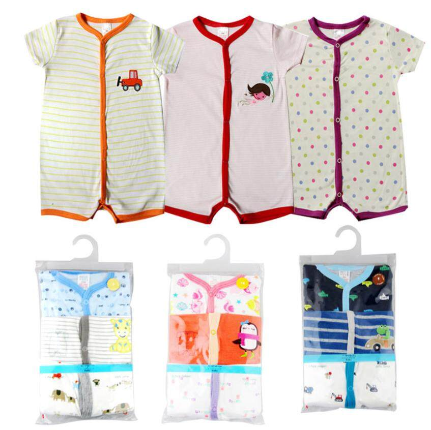 7d323906558e 3 Helai Baby Carters Boys Girls Baby Romper Jumpsuit Jumper Bodysuit Ready  Stock 3PCS Carters Baby