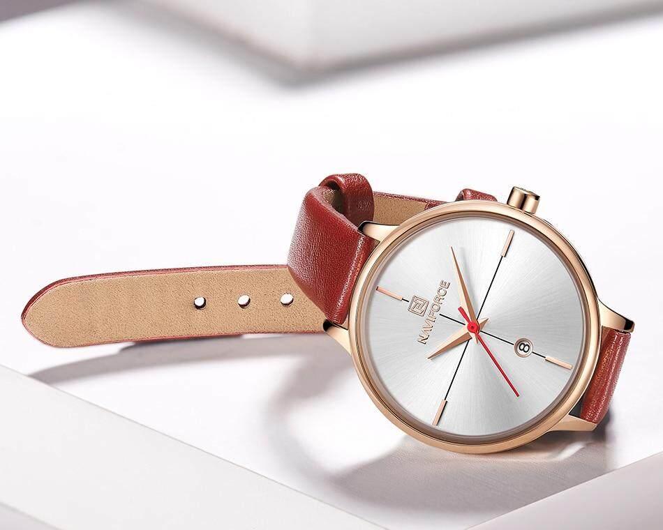 2216ff2f0f9 Women Watches NAVIFORCE Top Brand Luxury Fashion Female Quartz Clock Ladies  Leather Wrist Watch Waterproof Girl