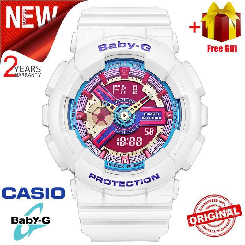 (Ready Stock) Original Casio Baby G_BA-112-7A Men Sport Watch Duo W/Time 200M Water Resistant Shockproof and Waterproof World Time LED Auto Light Wist Sports Watches with 2 Year Warranty BA112/BA-112 Malaysia