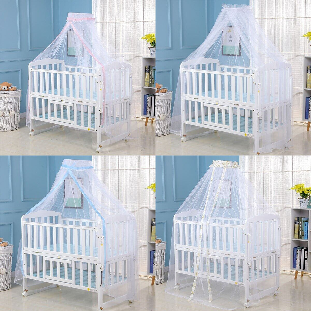 Newborn Summer Crib Mesh Mosquito Net Baby Bed Accessories Protection Net Lazada Singapore