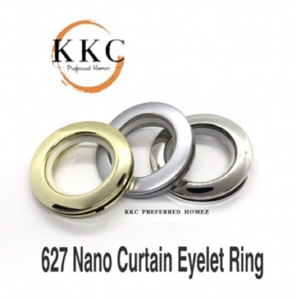 Curtain Eyelet Rings (ABS) With Nano Silencer Ring (Silver/Gold/Matte Grey)