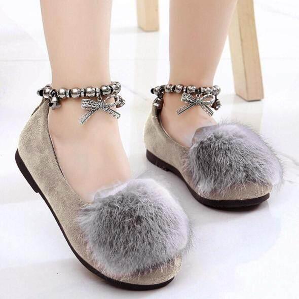 Liuyehumall Giày công chúa thắt nơ làm bằng vật liệu chất lượng cao mềm mại không gây hại cho bé gái - INTL giá rẻ