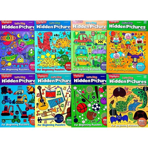Lets Play Highlights Hidden Pictures with Stickers    For Beginning Puzzlers 200+ OBJECTS to find!   Pelangi Books Malaysia