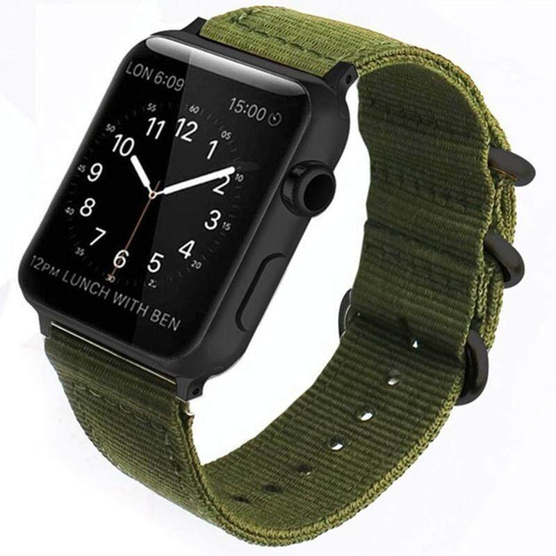 Outdoor Nylon Canvas Sports Military Fabric Band Strap for Apple Watch Series 3\2\1 Sport Bracelet 42 mm 38 mm Strap for Iwatch Band Malaysia
