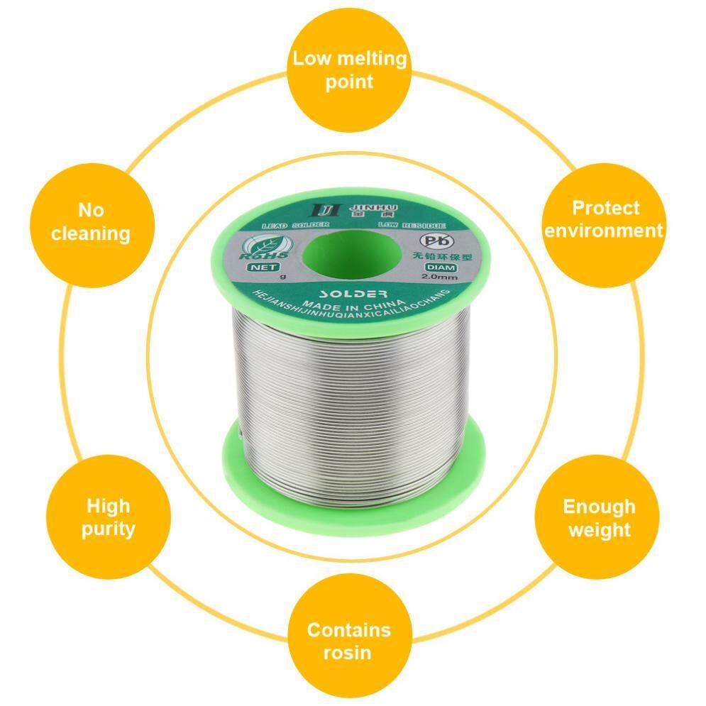 250g 2.0mm 99.7% Sn 0.3% Cu Environmental-friendly Lead-free Rosin Core Solder Wire for Electric Soldering Iron with Flux and Low Melting Point