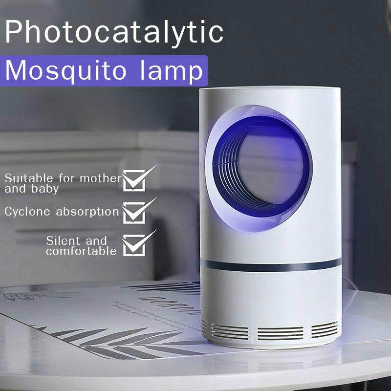 Mosquito Killer Lamp LED Mosquitoes Repellent Portable Purple Vortex Mute Electric USB Powered Insect Pest Bug Catcher Killer Silent Light Non-Toxic Chemical-Free UV LED Quiet Safe and Effective Indoor Trap for Kids Baby image on snachetto.com
