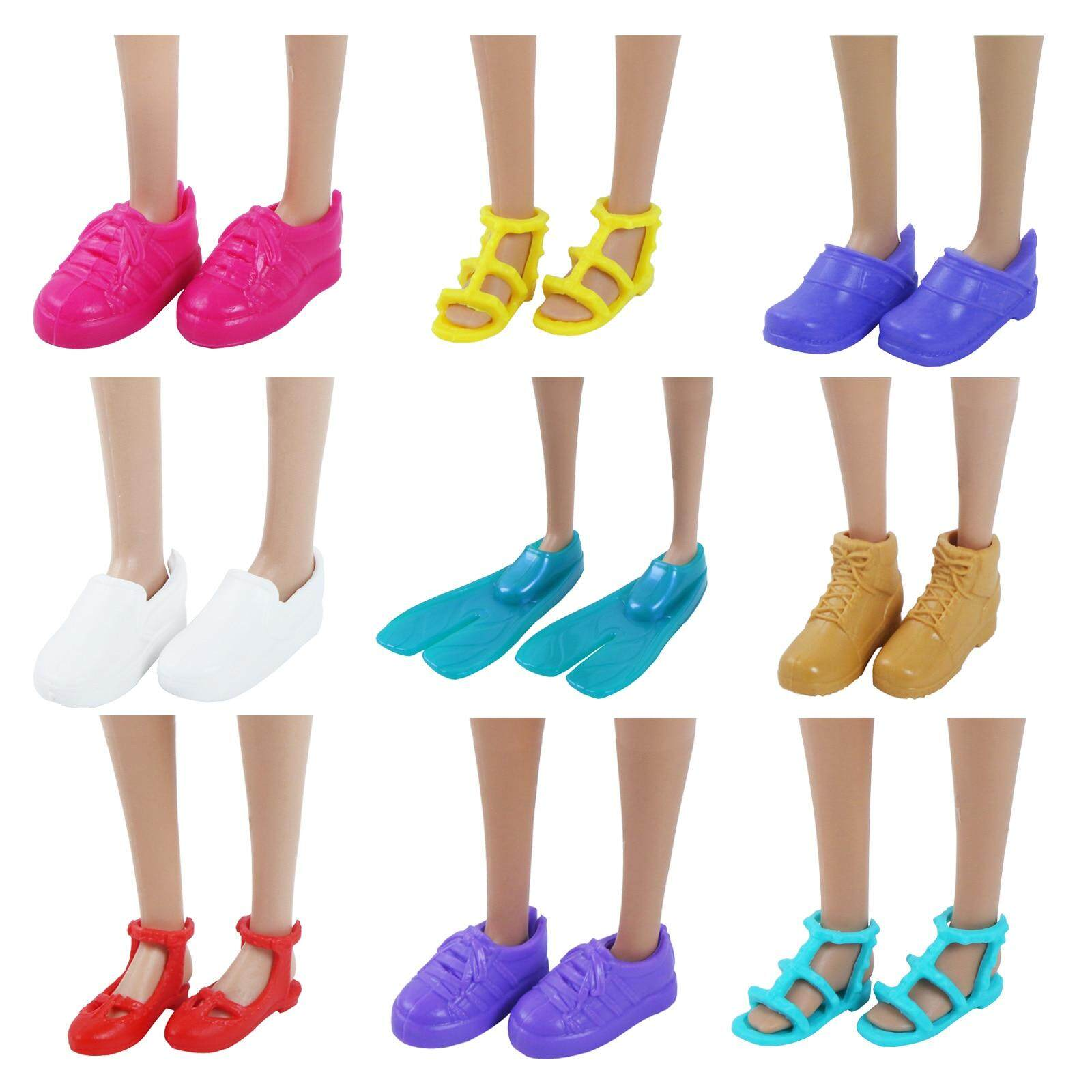 4a92b6bc14 JM High Quality Fashion Mini Flat Shoes Cute Mixed Style Colorful Sport  Sandals Ballet Dance Shoes Accessories for Barbie Doll Toy