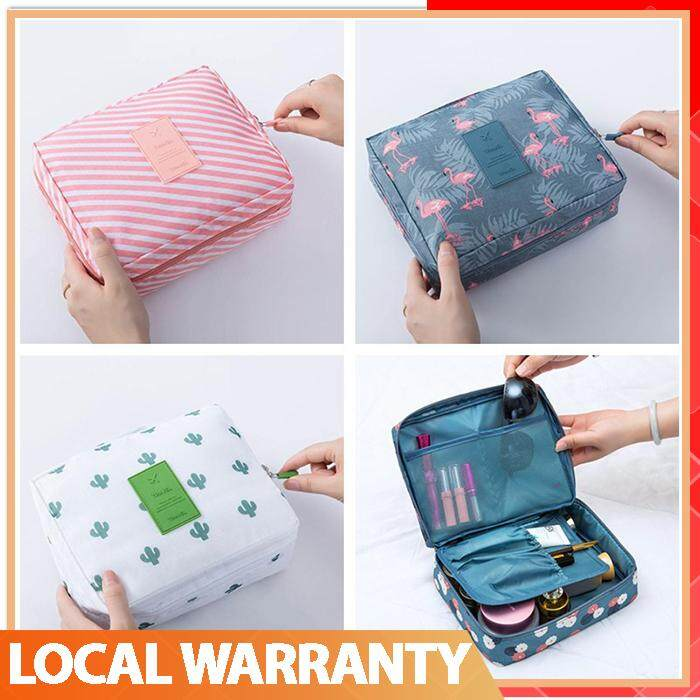5c888e1c0d47 [Full Color] Zipper Man Women Makeup bag nylon Cosmetic bag beauty Case  Make Up