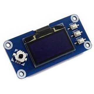 Waveshare 1.3Inch OLED Display HAT for Raspberry Pi, 128x64 Pixels, SPI I2C Interface for Raspberry Pi 2 B 3 B ZERO ZERO W thumbnail