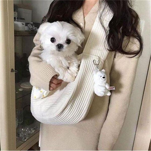 Handmade Pet Dog Carrier Du Lịch Ngoài Trời Túi Xách Vải Đơn Vai Túi Sling Thoải Mái Du Lịch Tote Vai Túi Thoáng Khí