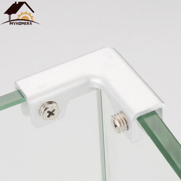 2 Pieces Aluminum Glass Clamps Aquarium Corner Clips Shelves Holder For Corner Thickness 3mm 4mm 5mm 6mm 7mm Glass Bracket Clamp 2-Ways Clip