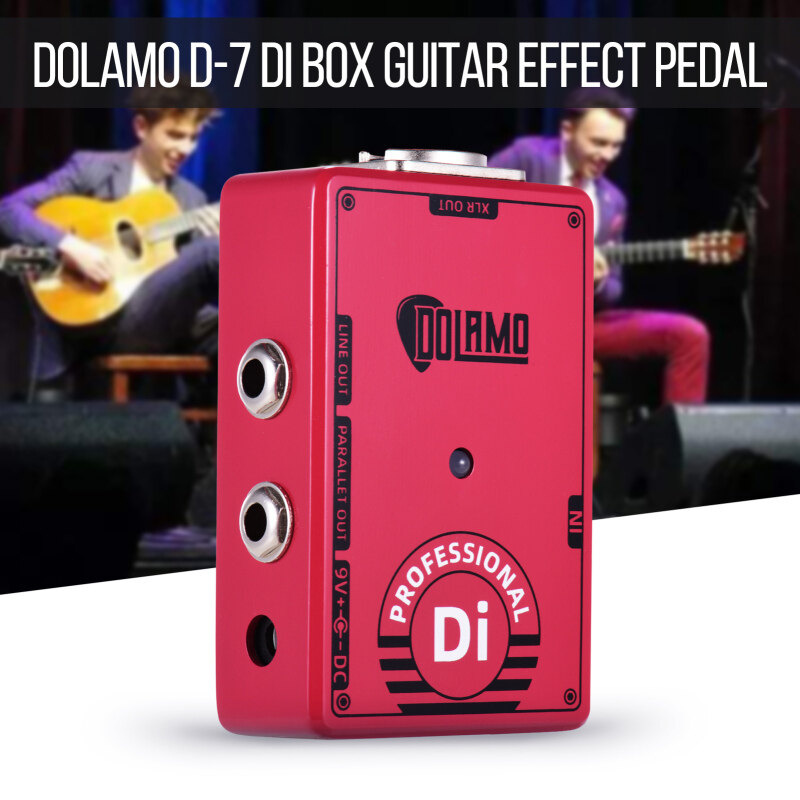 Dolamo D-7 Professional DI Box Guitar Effect Pedal with Ground Lift Switch XLR Out for Electric Guitar Malaysia