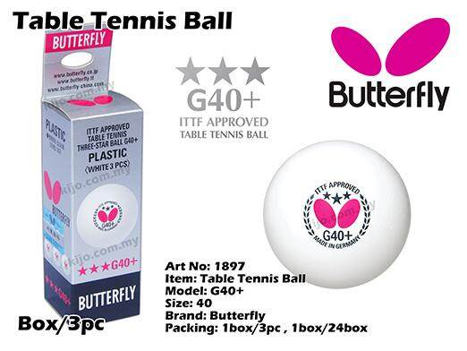 Butterfly G40+ Table Tennis Ball By Azzon888.