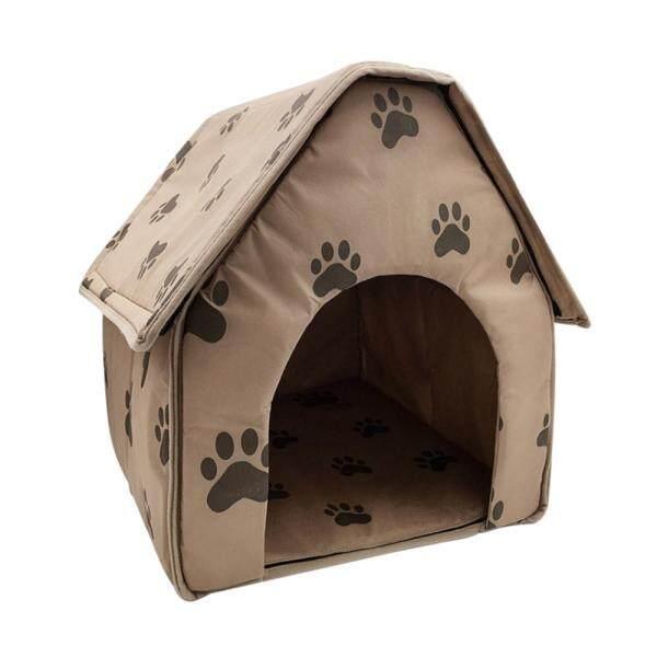 [[Yulikeit] Comebuy88 Thú Cưng Giường Mèo Nhà Có Thể Gập Lại Có Thể Tháo Rời Chân Mềm Mại In Hình Cho Thú Cưng Chó Mèo Giường Ngôi Nhà Ấm Áp