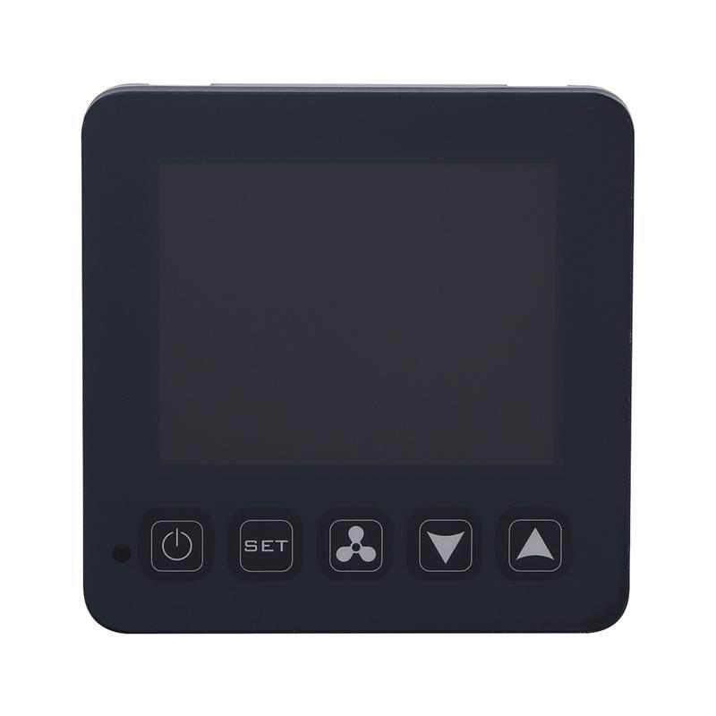Layar Sentuh Nirkabel Termostat Terprogram Smart Termostat Digital Pendinginan dan Pemanasan Pengatur Suhu untuk AC Sentral Fan Unit Kumparan (Hitam)