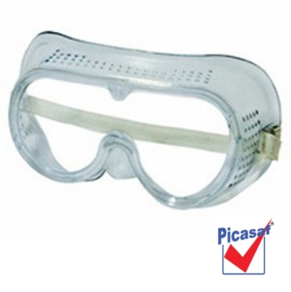 PICASAF Soft Rubber Eyes Protector CLEAR SAFETY GOOGLE