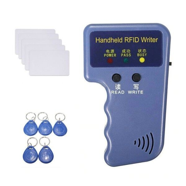 Handheld RFID Reader Writer,RFID Copier 125khz RFID Card Copier Duplicator for Door Access Control Ready Stock