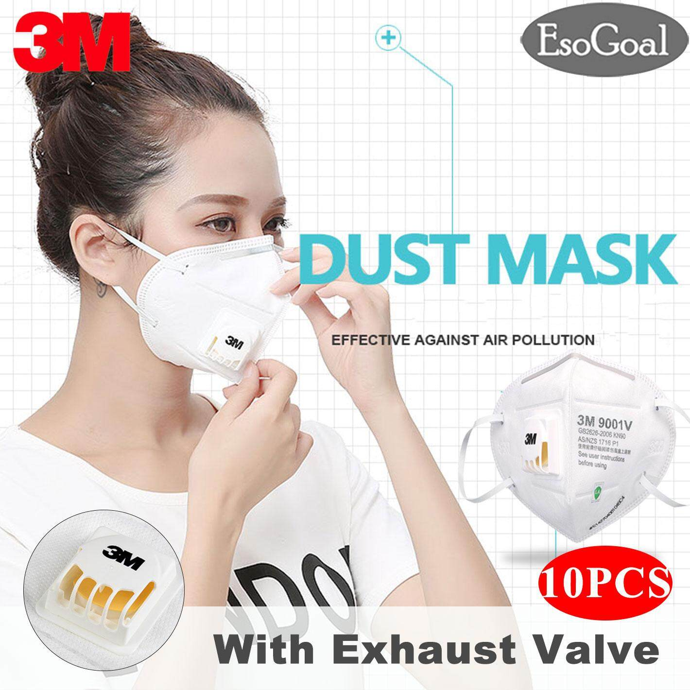 Esogoal 10 Pcs/20 Pcs 3m 9001v Mouth Face Mask Anti-Fog Anti Pm 2.5 Respirator Anti Dust Haze Disposable Particulate Mask Respirator Ear Wearing N90 Level For Men Women By Esogoal.