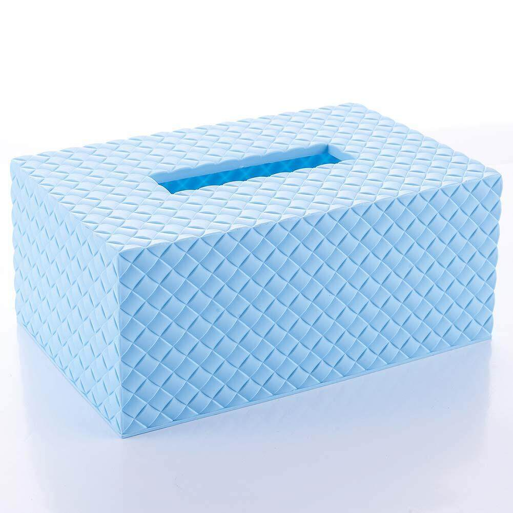 Fashion Plastic Weave Pattern Home Room Car Hotel Tissue Box Paper Napkin Holder