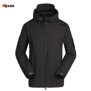 AMO Áo Gió Lông Cừu Vỏ Mềm Chống Gió Chống Nước Cho Nam Coat Với Hood, Cho Ngoài Trời thumbnail