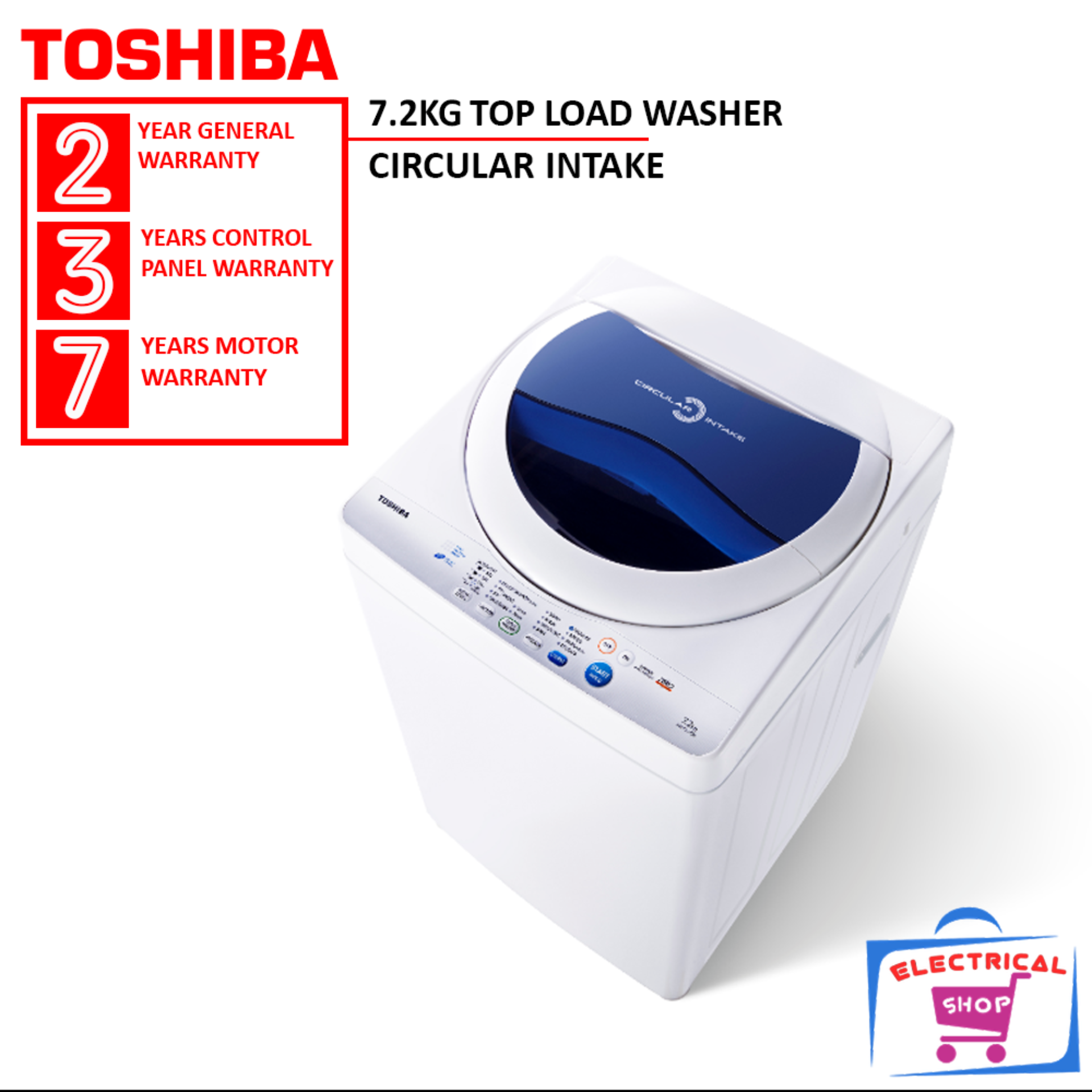 Toshiba Washing Machine AW-F820SM 7.2KG Top Load Washer AWF820SM