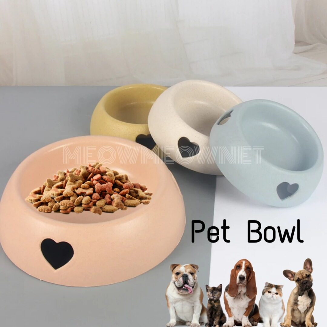 Malaysia Ready Stock Pet Bowl Cat Dog Food Water Heart Shape Feeding Bowl Dispenser Feeder Mangkuk Makanan Air Kucing Lazada