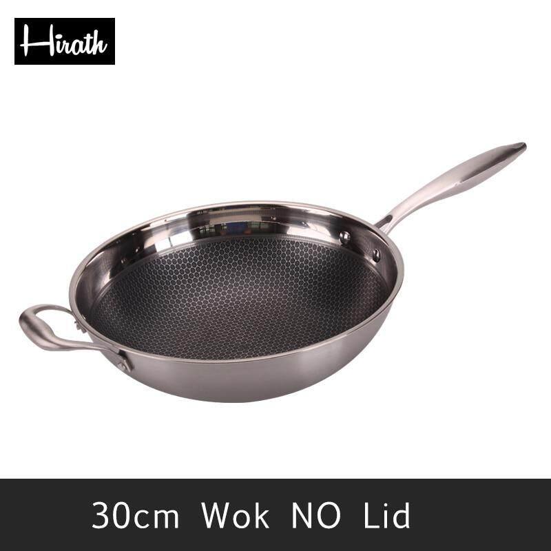 Hirath 30 Cm 32 Cm 304 Inox Không Dính Chảo Có Nắp Đậy Và Xẻng Đồ Nhà Bếp Đồ Dùng Nhà Bếp